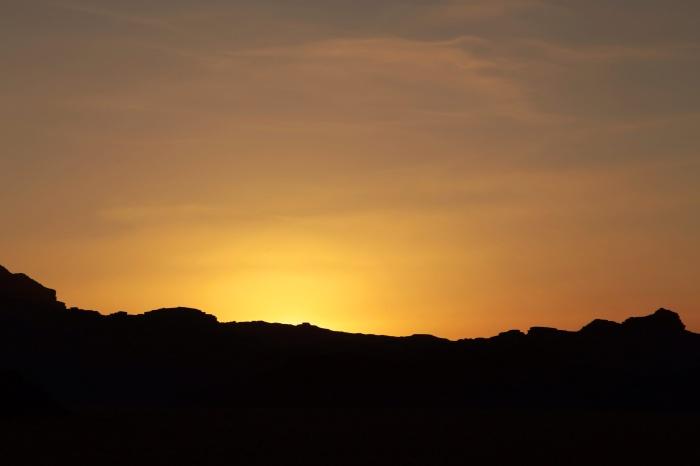 Tramonto nel Wadi Rum I
